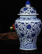 Antik Blaue und Weiße Porzellan Vase Forliving