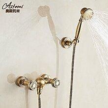 Antik Bronze alle Europäischen Stil antike Badewanne Dusche Wasserhahn doppelten Satz heißen und kalten Wasserhahn Dusche Badewanne Armatur EIN
