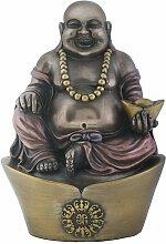 Antik Bronze Finish Happy Buddha Religiöse