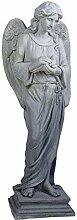 Antik Engel Gartenfigur 118cm Skulptur Schutzengel
