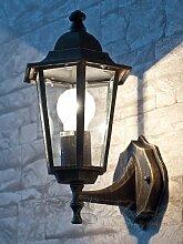 Antik-farbende Wand-Energiespar-Außenleuchte 11 Watt IP43 up aus Aluguss Außenlampe Wandleuchte Lampe Leuchte