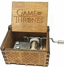 Antik geschnitzt Game of Thrones Hand Kurbeln Holz