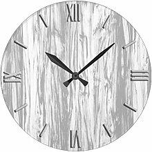 Antik Holz Uhr für Schlafzimmer Treibholz Muster
