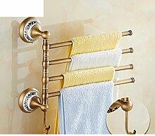 Antik Kupfer Handtuchhalter voll/blaue und weiße Porzellan Handtuchhalter/Continental drehen Handtuchhalter/Tuch/Hardware-Bad-Accessoires-C
