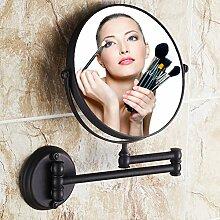 Antik Kupfer-Spiegel/ Bad Kosmetikspiegel/European-Style Teleskop klappbare Wandspiegel/ Vergrößerung Spiegel