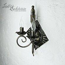 Antik Leuchte/Wandlampe Nostalgie/Antik Braun / 2x
