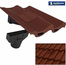 Antik Rot Doppel Flachdachziegel Dach Fliese Vent & Adapter / Marley Redland Sandtof