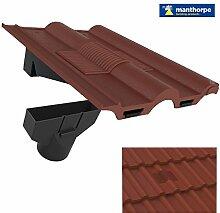 Antik Rot Doppel Roman Dach Fliese Vent & Adapter / Marley Ludlow Redland Sandtof