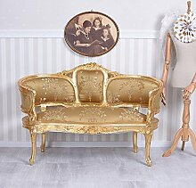 Antik Sofa Barock Sitzbank Marie Antoinette Gold Couch Barocksofa Palazzo Exclusiv