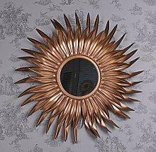 Sonnenspiegel Kupfer Spiegel Sonne Dekospiegel Kaminspiegel Konsolenspiegel