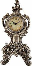 Antik Vintage-Stil Silber Mantel Schreibtisch Uhr