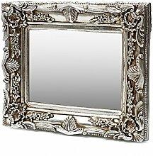 Antik Wandspiegel Silber 50x60 mit Facettenschliff