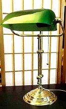 Antik2000 Banker Lampe massiv Messing 45 cm