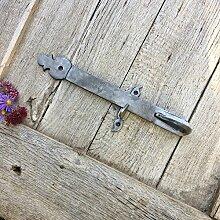 Antikas - Antike Verriegelung Tür Heberiegel Gartentor Torriegel Aufnahme Riegel mit Falle