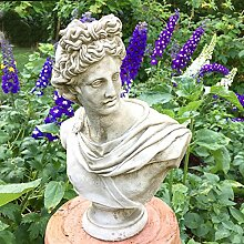 Antikas - Apollo Figur Garten Steinfiguren antik Skulpturen Park - Geschenke Bogenspor