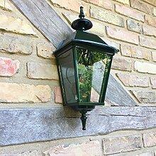 Antikas - Außenlampe Haustür - schöne Landhaus Außenleuchte Wandlampe dkl-grün Triest 52cm