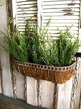 Antikas - Blumenkasten Zink und Kokos,