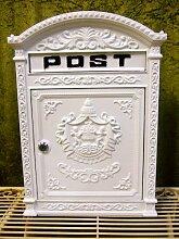 Antikas - Briefkasten London weiß aus Alu wie
