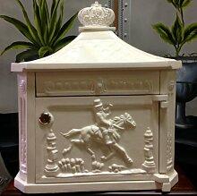 Antikas - Briefkasten Postillon Wandbriefkasten,