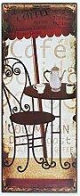 Antikas - Cafe-Haus Blechschild mit Cafe-Schild