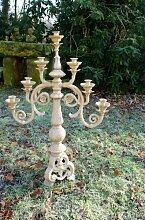 Antikas - Großer Tafelleuchter, 7-armig und herrschaftlich, Kerzenständer, Kerzenleuchter