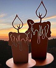 Antikas - Naturdeko Terrasse Edelrost Dekoration Haustür Winter, Weihnachts-Kerzen Antik