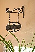 Antikas - Schild Welcome, Hausschild fürWohnung