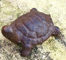Antikas - Schildkröte klein Dekoration Steinbeet Terrasse Teich, wetterfest Eisen