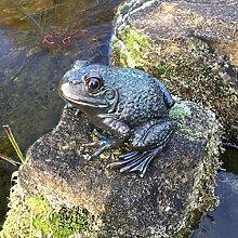 Antikas - Skulptur Frosch Brunnendekoration -