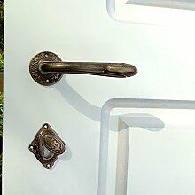 Antikas - Türdrücker Jugendstil, Innentüren Rosetten Tür-Garnitur Messing - schön verzier