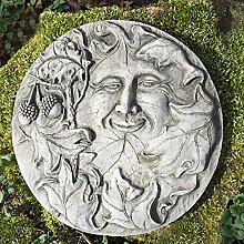 Antikas - Vollmond Wand Dekoration Mondgesicht Terrasse Wandbilder Gnome - Waldgeis