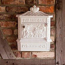 Antikas - Wandbriefkasten mit Zeitungsfach -