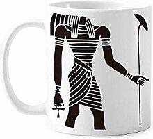 Antike Ägypten Anubis Totem Fresco Tasse Keramik