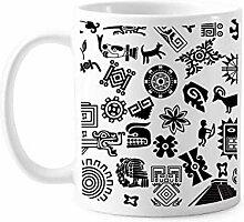 Antike ägyptische Kunst Dekorative Muster Tasse