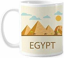 Antike ägyptische Pyramide Sphinx Muster Tasse