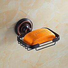 Antike Bronze schwarze Seife Netzwerk/Continental Seifenschale/Antique Soap Netzwerk/Soap Box/Bad-Accessoires