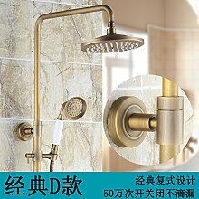 Antike Dusche alle Kupfer im Europäischen Stil Dusche Badezimmer Armatur D aufgehoben werden können.