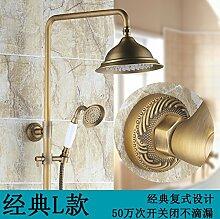 Antike Dusche alle Kupfer im Europäischen Stil Dusche Badezimmer Armatur L angehoben werden können.
