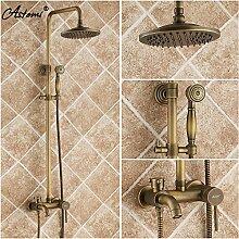 Antike dusche Dusche voll Kupfer retro heiße und kalte Dusche im europäischen Stil Badezimmer Armatur Dusche einstellen
