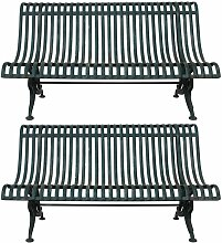 Antike Eisen Sitzbank