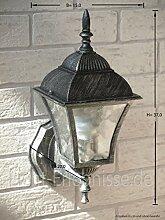 Antike Energiespar-Wand-Außenleuchte 11 Watt IP43 aus Aluguss Außenlampe Wandleuchte Lampe Leuchte