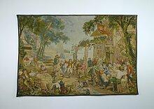 Antike flämische Kermesse Tapisserie von David