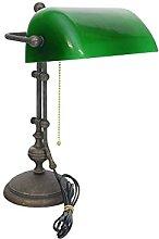 Antike Fundgrube Nostalgische Bankerlampe Messing