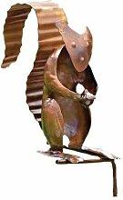 Antike Graffiti ag-10225geflammter Kupfer Spieler setzen Eichhörnchen Outdoor Decor–Mehrfarbig