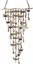 Antike Graffiti ag-1110Grünspan und Kupfer schimmernden Glocken Libellen–Mehrfarbig