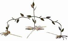 Antike Graffiti ag-1136geflammter Kupfer Libelle Ast Mobile–Mehrfarbig