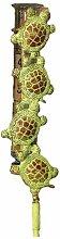 Antike Graffiti ag-1171aus Messing Spieler setzen Schildkröte Regen Gauge–Mehrfarbig