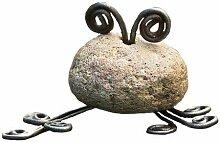 Antike Graffiti ag-81020Critters Mini Frosch natur Fluss Stein mit Draht–Mehrfarbig
