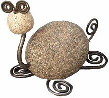 Antike Graffiti ag-81030Schildkröte Fluss Stein mit Draht–Mehrfarbig