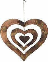 Antike Graffiti Flame Dreifach Herz Spinning Herz zum Aufhängen